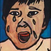 """Filipe Cerqueira, """"Chorando"""", 2008, Acrílico sobre papel, 20x22 [INDISPONÍVEL / UNAVAILABLE]"""
