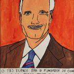 "Filipe Cerqueira, ""Ted Turner"", 2015, Acrílico sobre papel, 35x50 [INDISPONÍVEL / UNAVAILABLE]"