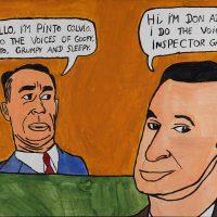 """Pinto Colvig e o Don Adams"", 2015, acrílico sobre papel, 50x35cm [INDISPONÍVEL / UNAVAILABLE]"
