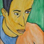 "Filipe Cerqueira, ""Retrato do Pedro Leal"", 2010, Acrílico sobre papel, 35x50 [INDISPONÍVEL / UNAVAILABLE]"