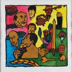 """Filipe Cerqueira, """"Desconhecidos"""", 2014, Acrílico sobre papel, 35x35 [INDISPONÍVEL / UNAVAILABLE]"""