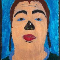 """Sem título"", 2008, acrílico sobre fotocópia em papel, 60x80cm [INDISPONÍVEL / UNAVAILABLE]"