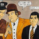 """Filipe Cerqueira, """"Abbot e Costello com o Mr. Bean"""", 2015, Acrílico sobre papel, 70x50 [INDISPONÍVEL / UNAVAILABLE]"""