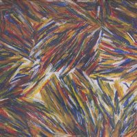 "Vitor Hugo Santos, ""Chuva"", 2015, Pastel de óleo sobre papel, 70x50 [INDISPONÍVEL / UNAVAILABLE]"