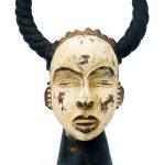 Máscara Ngbe, Ejagham (Ekoi), séc. XX, Nigéria, Madeira, pigmentos, 45x30