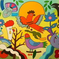 "Os Pássaros do Paraíso", 2014, óleo sobre tela, 130x97cm [INDISPONÍVEL / UNAVAILABLE]