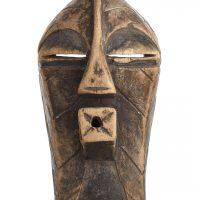 Máscara songye, Songye, séc. XX, R.D. Congo, Madeira, 19x32