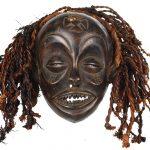 Máscara tchokwe, Tchokwe, séc. XX, Angola, Madeira, 26x24