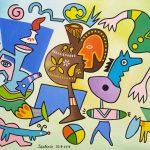"""""""Figuras em Movimento"""", 2012, Óleo sobre tela, 81x65cm [INDISPONÍVEL / UNAVAILABLE]"""