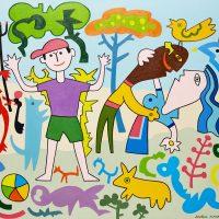 """""""Menino Traquina"""", 2015, Óleo sobre tela, 92x73cm [INDISPONÍVEL / UNAVAILABLE]"""