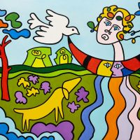 """Pomba Domesticada"", 2015, Óleo sobre tela, 92x73cm [INDISPONÍVEL / UNAVAILABLE]"