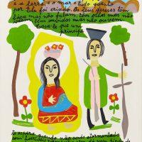 """História de Santa Bárbara I"", 2013, Óleo sobre tela, 40x50cm [INDISPONÍVEL / UNAVAILABLE]"