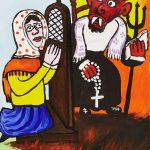 """Troca de Confessor"", 2015, Óleo sobre tela, 40x50cm [INDISPONÍVEL / UNAVAILABLE]"