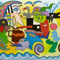 """""""Soldado Marciano"""", 2014, óleo sobre tela, 100x81cm [INDISPONÍVEL / UNAVAILABLE]"""