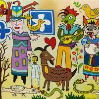"""Dança da Bicharada"", 2015, óleo sobre tela, 100x81cm [INDISPONÍVEL / UNAVAILABLE]"