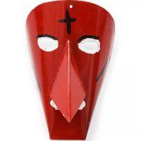 Desconhecido, Máscara de Podence com cruz, 2014, Podence, Metal, tintas, 14x21