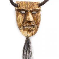 Tozé Vale, Máscara Diabo Chifres, 2015, V.B. Ousilhão, Madeira, chifres e pelo, 18x23