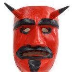 Tozé Vale, Máscara Diabo Vermelho, 2016, V.B. Ousilhão, Madeira, tintas, 16x22,5