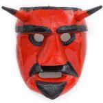 Tozé Vale, Máscara Diabo Vermelho, 2016, V.B. Ousilhão, Madeira, tintas, 18x20