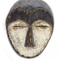 Máscara lega, Lega, séc. XX, Gabão, Madeira, 18x12