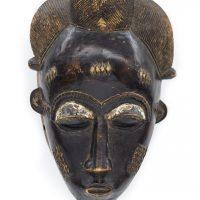 Máscara baule, Baule, séc. XX, Costa do Marfim, Madeira, 60x40x15