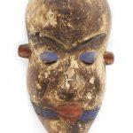 Máscara yoruba, Yoruba, séc. XX, Nigéria, Madeira, pigmentos