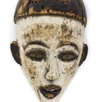 Máscara bacongo, Bakongo, séc. XX, Zaire, Madeira, 25x12x13