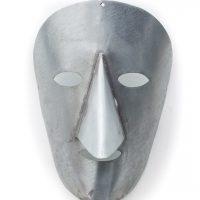 Óscar Barros, Máscara crua, 2016, Bragança, Metal, 15x22