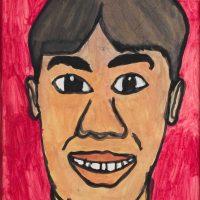 "Filipe Cerqueira, ""Sorrindo"", 2008, Acrílico sobre papel, 22x30 [INDISPONÍVEL / UNAVAILABLE]"