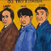 """Os Três Estarolas"", 2015, acrílico sobre papel, 50x35cm [INDISPONÍVEL / UNAVAILABLE]"