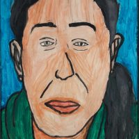 """Joana Amaral, na Dama"", acrílico sobre papel, 35x50cm [INDISPONÍVEL / UNAVAILABLE]"