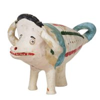 """""""Porco"""", 1950-60, Barro pintado, 13x15x20 cm"""